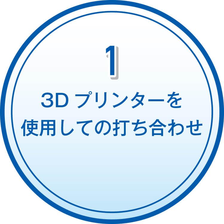1 3Dプリンターを使用しての打ち合わせ